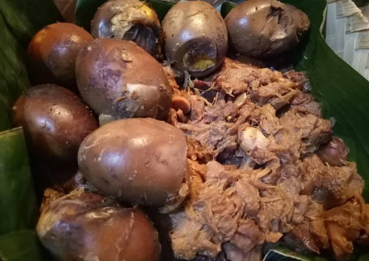 Gudeg nangka muda (cook with pressure cooker)