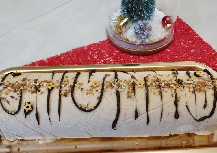 Recette Délicieuse Bûche glacée au praliné