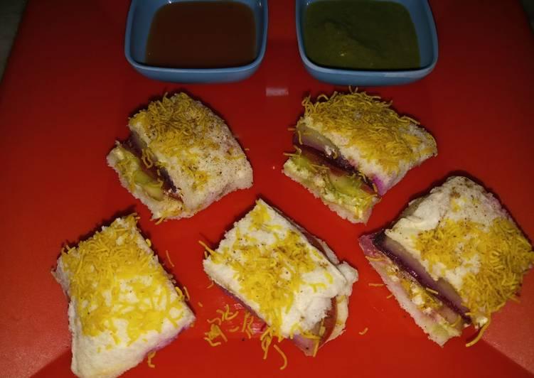 Quick and Easy Way to Prepare Delicious Mumbai veg roadside sandwich