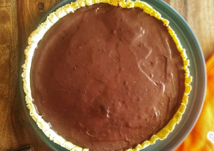 recette Tarte au chocolat et caramel beurre salé le délicieux
