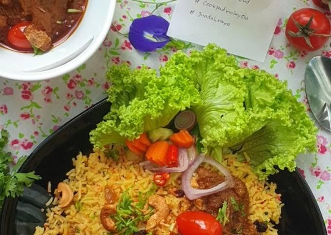 Nasi Minyak Daging Beriani