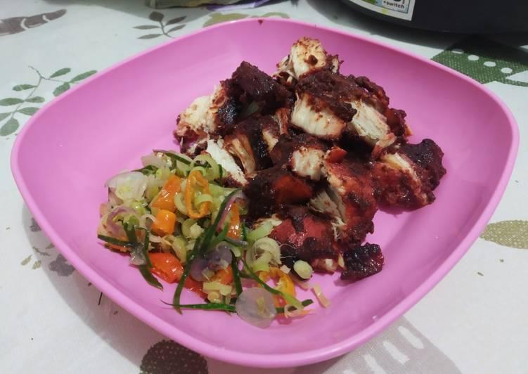 Babi panggang merah/ Ayam panggang merah