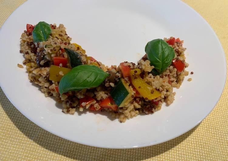 Ricetta Quinoa E Bulgur.Ricetta Bulgur E Quinoa Con Verdure Di Giulia S Cookpad