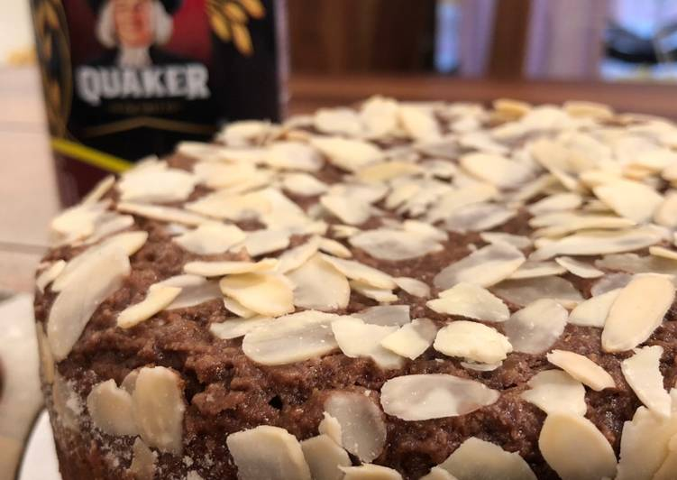 Nutty Oats Wheat Flour Chocolate Cake – Pressure Cooker Recipe – Healthy Treat On My Birthday