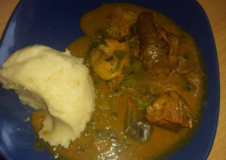 10 Minute Dinner Easy Any Night Of The Week Oha soup and garri