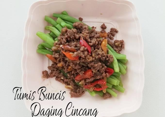 Tumis Buncis Daging Cincang