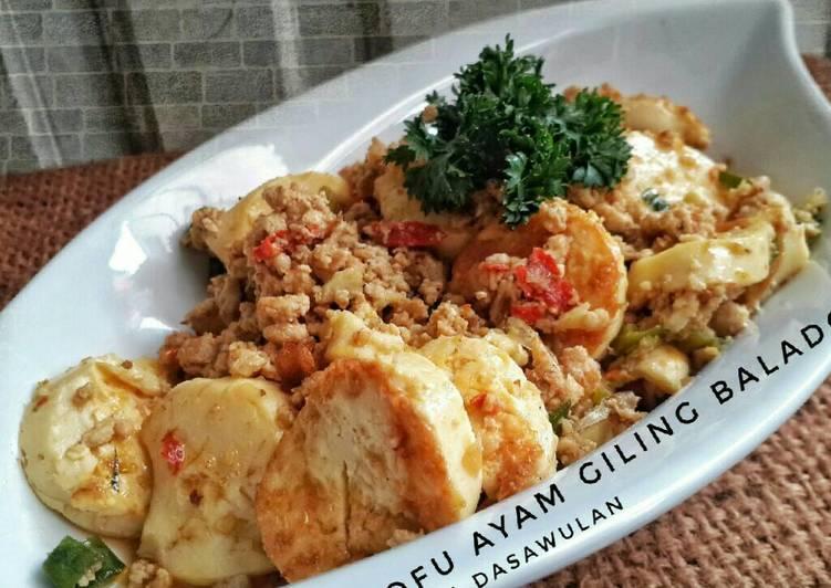 Tofu Ayam Giling Balado