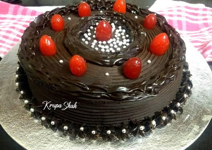How to Make Yummy Dark Chocolate Truffle cake (eggless)