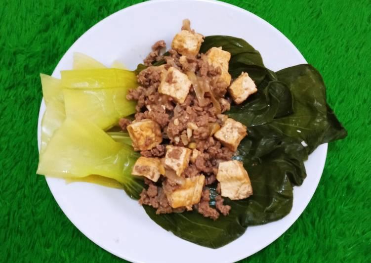 Pakcoy Mun Tahu (No oil, No gluten, no refined sugar)