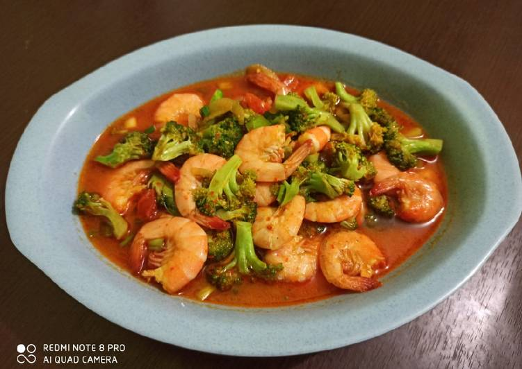 Brokoli Udang Saus Padang - cookandrecipe.com