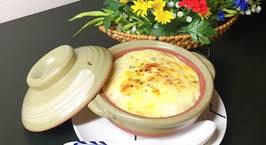 Hình ảnh món Cơm trộn phô mai,sốt trắng đút lò (white sauce)