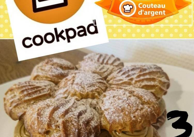 Paris-Brest fleuri spécial anniversaire cookpad 🎉