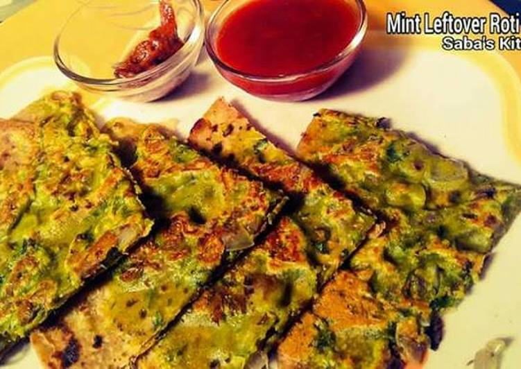 Easiest Way to Make Any-night-of-the-week Mint Leftover Roti Chila