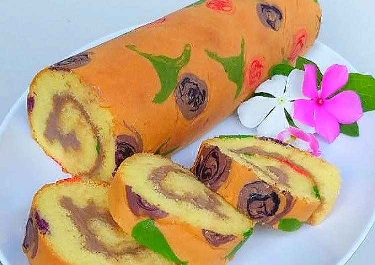 cara menyajikan Roll Cake Jelita - Sajian Dapur Bunda