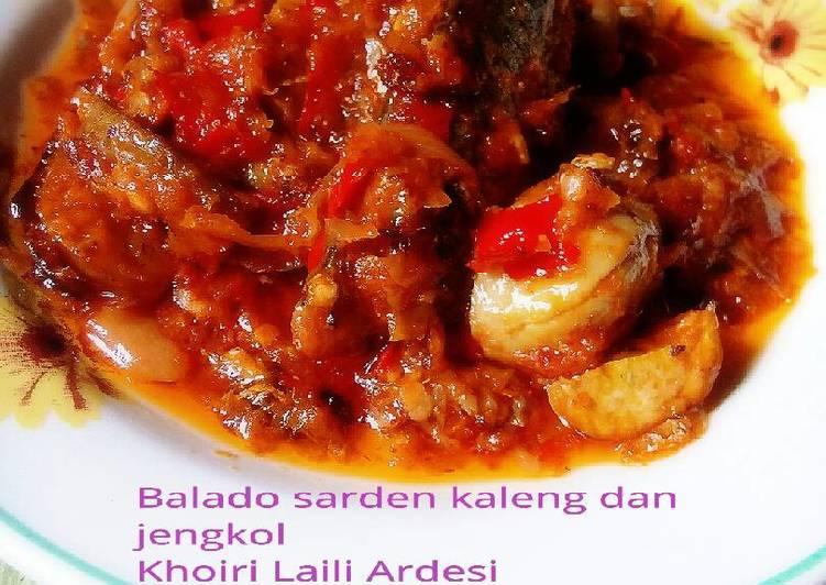 Balado sarden kaleng & Jengkol