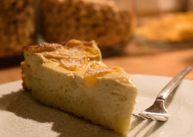 Orangen-Quarkkuchen (Proteinreich)