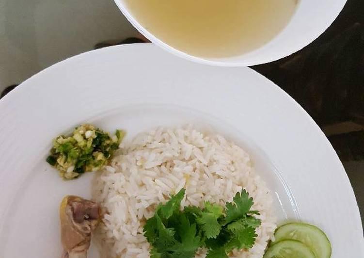 Hainanese Chicken Rice 海南鸡饭 #chinesecooking