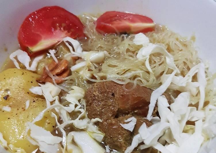 Soto Ayam Kampung Kentang Panggang - Diet Kolesterol