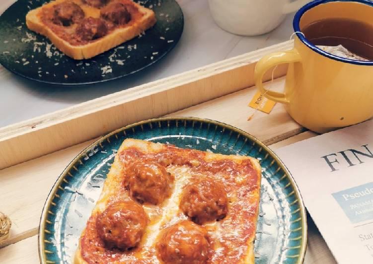 Cara Mudah Masak: Pizza roti meatball  Lazat