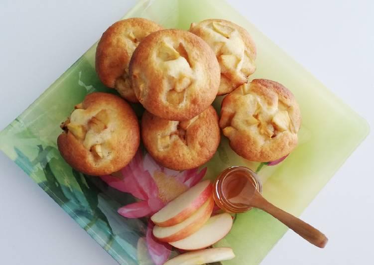 Gâteaux aux pommes caramélisées et miel