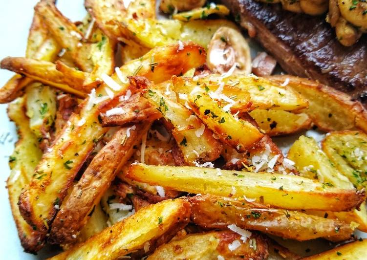 Recipe of Favorite My Baked Herby Parmesan & Garlic Chips