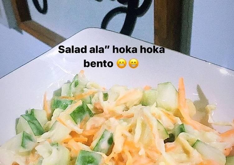 Salad ala-ala hokben (hoka hoka bento)