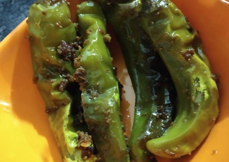 Steps to Make Speedy Stuffed Green chilli