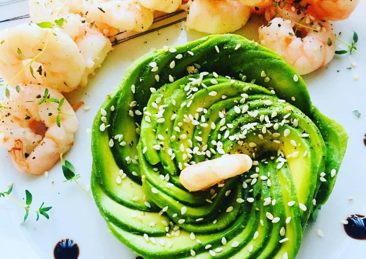 La Recette Pas à Pas Rose d'Avocat et Crevettes marinées au miel