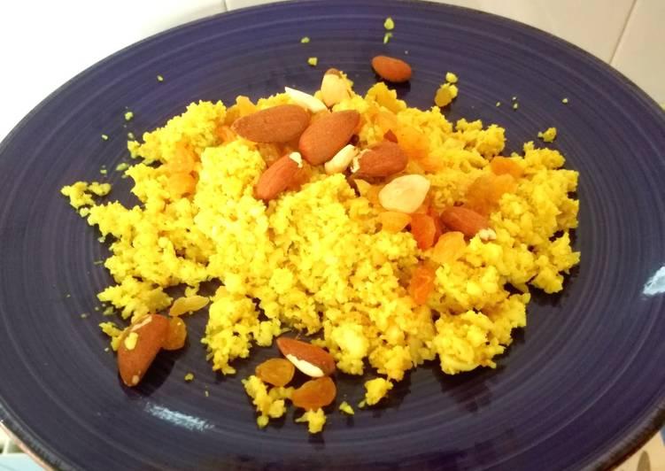 Colirroz al curry con almendras y pasas (MyCook)