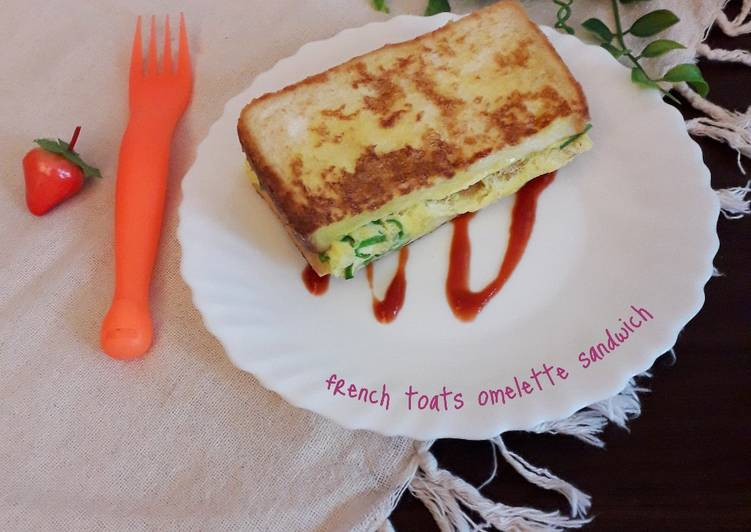 French toats omelette sandwich