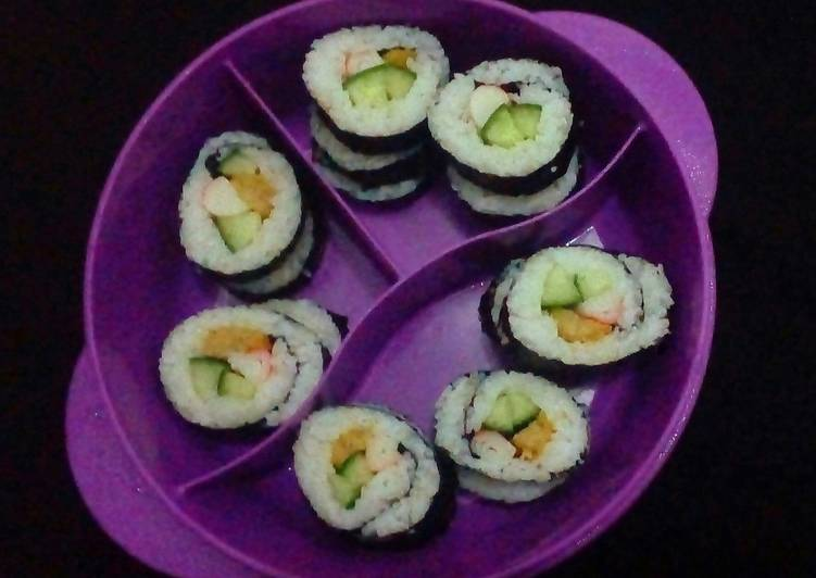Sushi Periment with chicken Nugget and Crabstick