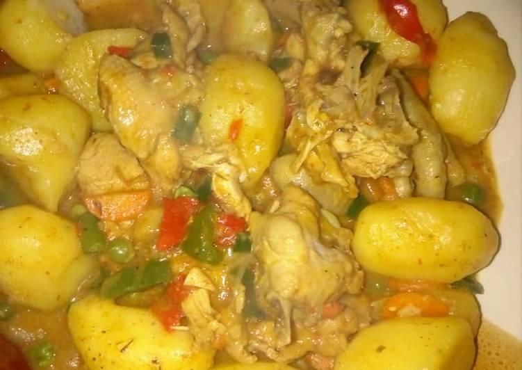 Curry Potatoes porridge