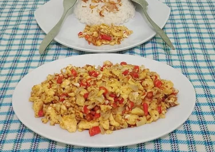 Resep Orak Arik Telur Bawang Bombay Foody Bloggers