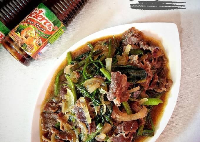 cah kangkung sapi - resepenakbgt.com