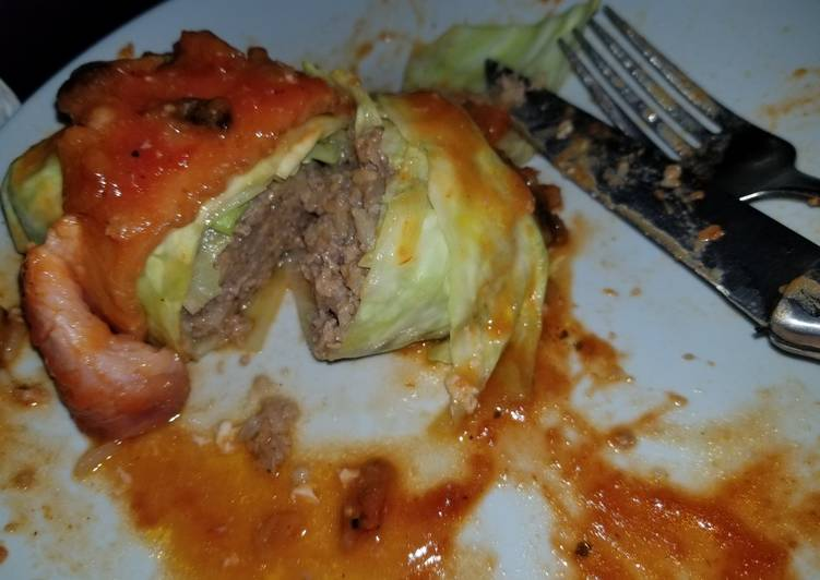 Bacon Wrapped Stuffed Cabbage