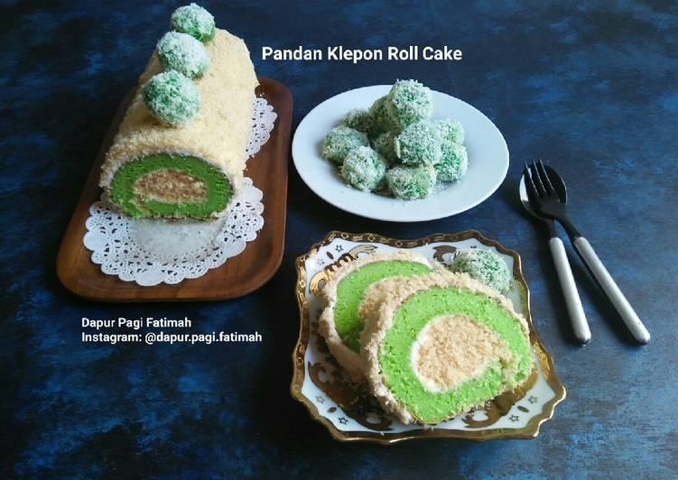 Resep Pandan Klepon Roll Cake
