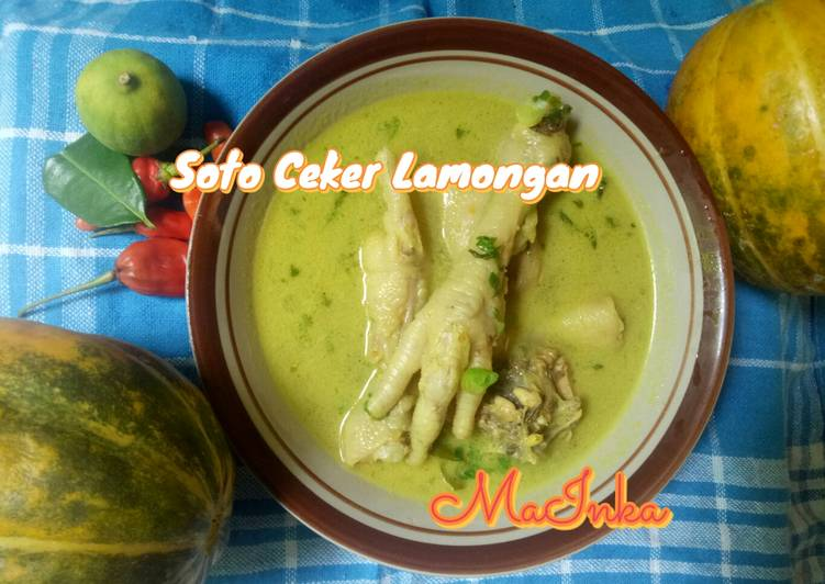 Soto Ceker Lamongan - cookandrecipe.com