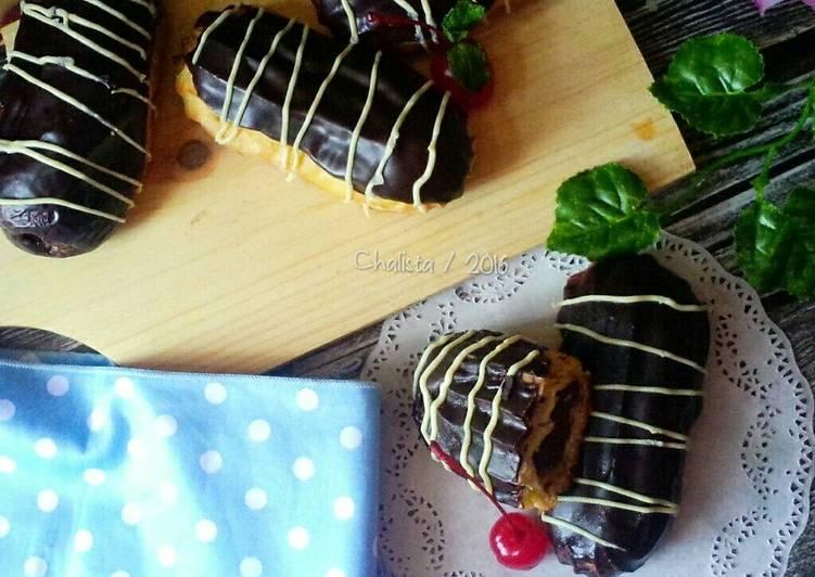 Resep Eclairs Chocolate Vla Oleh Chalistaa Kitchen Cookpad