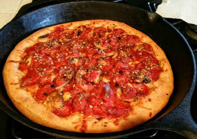 Homemade Deep Dish Chicago style Deluxe Beer Pizza !