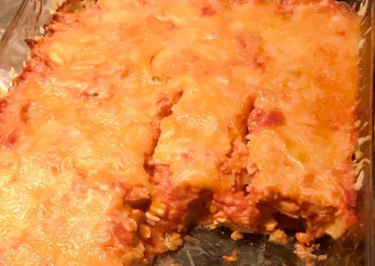 Easiest Way to Prepare Delicious E-Z Chicken Tortilla Bake