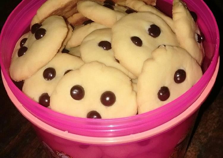 Chocochip cookies tanpa oven