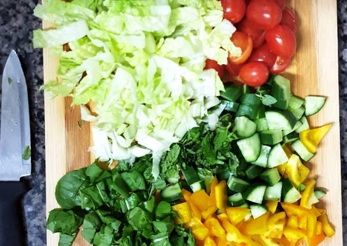 Salad with Orange Juice🍊🥗 سلطة مع عصير البرتقال