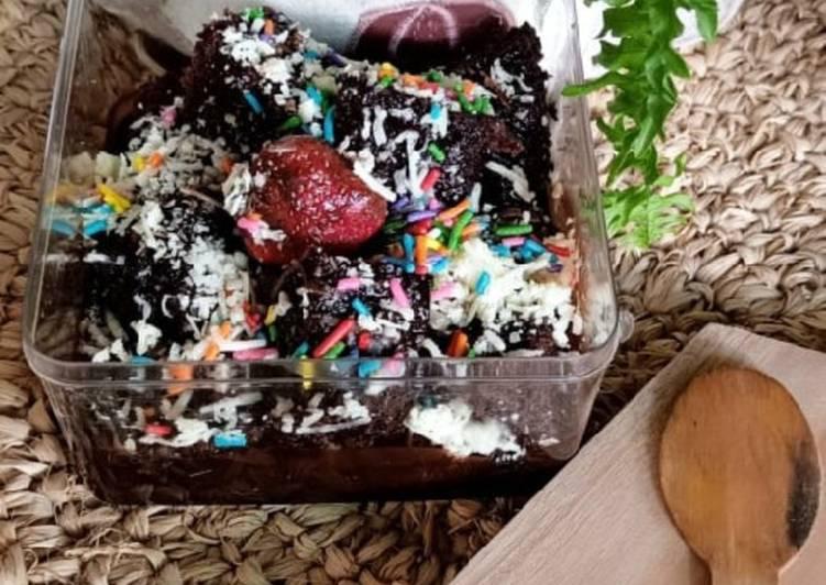 Brownies cokelat Kukus anti gagal