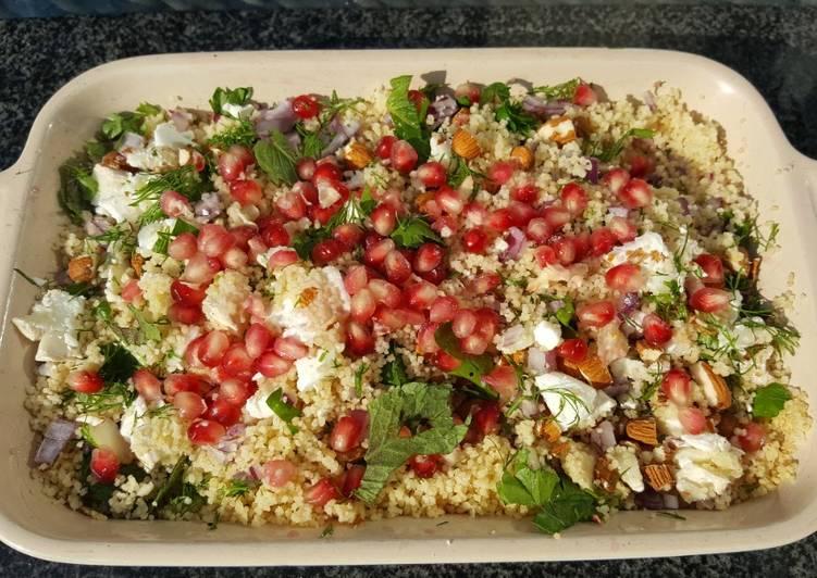 Recipe of Award-winning Herby feta couscous salad