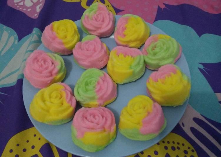 Bolu Mawar Rainbow Kukus