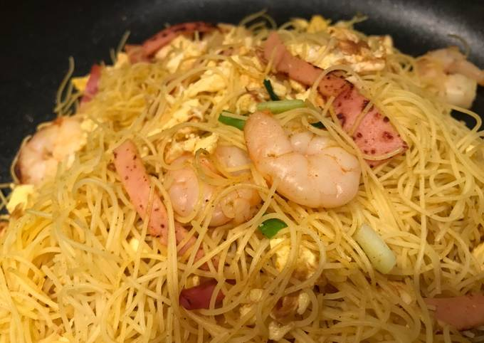 Recipe: Perfect On diets version of  Star Fried Rice Pasta 減肥吃的星洲炒米