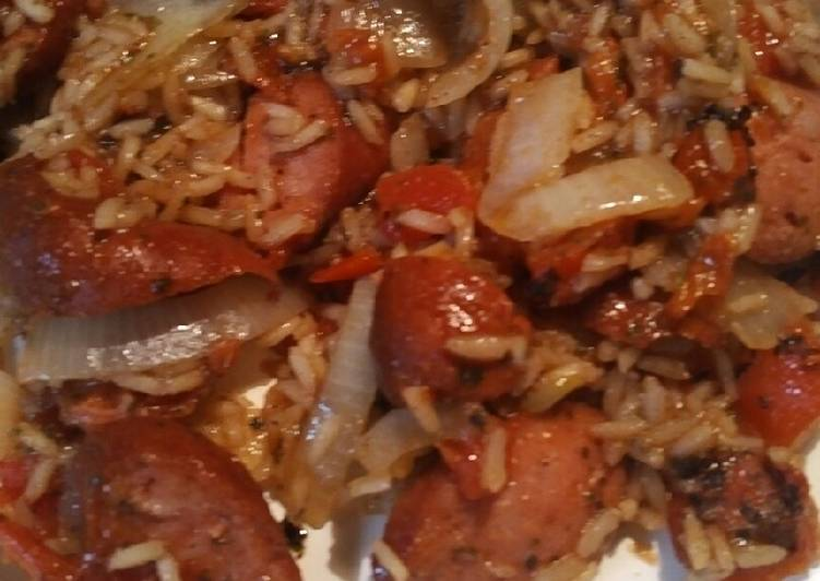 The Best Soft and Chewy Dinner Easy Favorite Rice, Roasted Tomatoes, and Sausage, with Preserved Lemon Brine