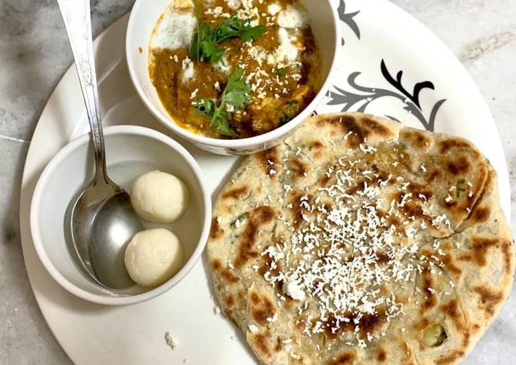 Stuffed paratha & butter masala paneer