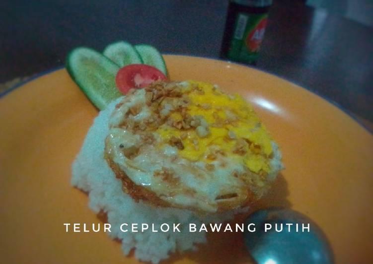 Telur Ceplok Bawang Putih