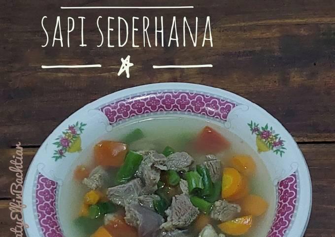 Sop Daging Sapi Sederhana - projectfootsteps.org